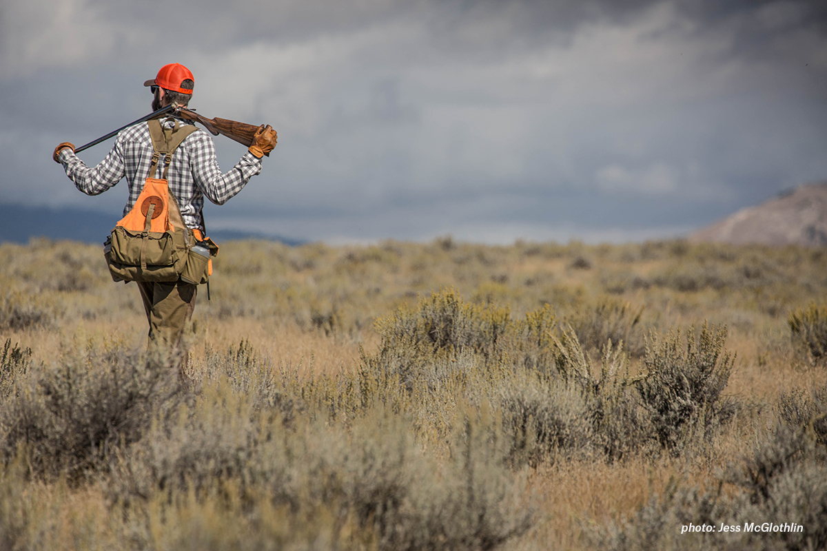 A hunter takes a much-needed break while hunting sage grouse in eastern Montana.