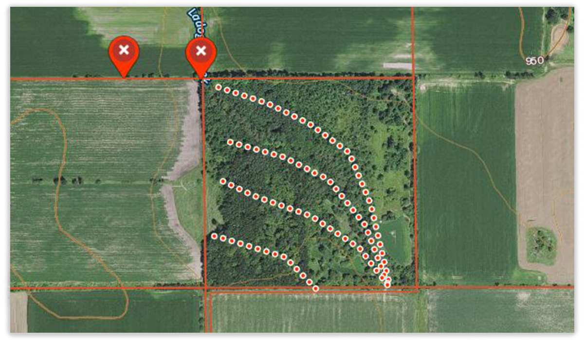 Use the onX Hunt App for a deer drive, ensuring you know where your fellow hunters are, and where property boundaries may cause deer to turn.