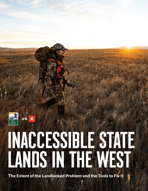 Woman hunting on the cover of Inaccessible Lands in the West report from onX and TRCP.