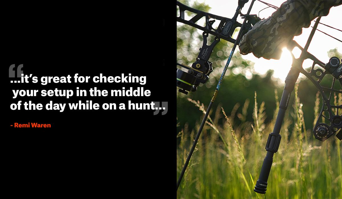 Quote from Remi Warren on bow hunting practice advice.