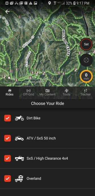 App Screen Feature Ride Specific Trails 1080X2220