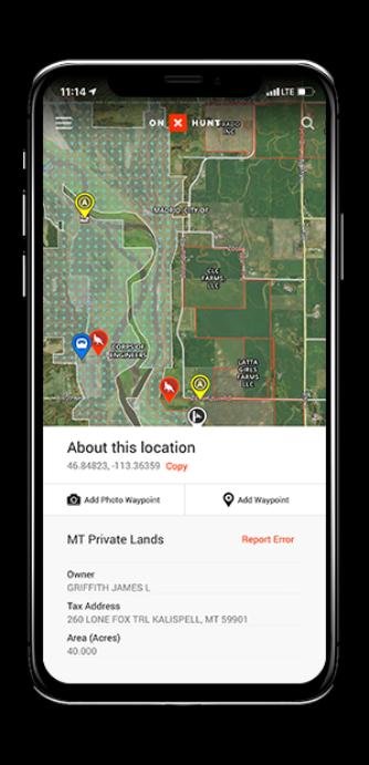 Phone 2 Free Land Ownership Maps