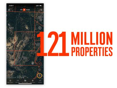 The onX Hunt App for Android provides the most accurate and up-to-date private and public land maps with 121 million private properties, 985 million acres of public land and more than 400,000 miles of trails.
