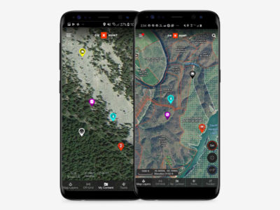 With onX Hunt Waypoints, you can select specific colors or icons to customize maps for various uses, such as setting AM and PM whitetail deer stands or marking preferred camping and glassing spots.