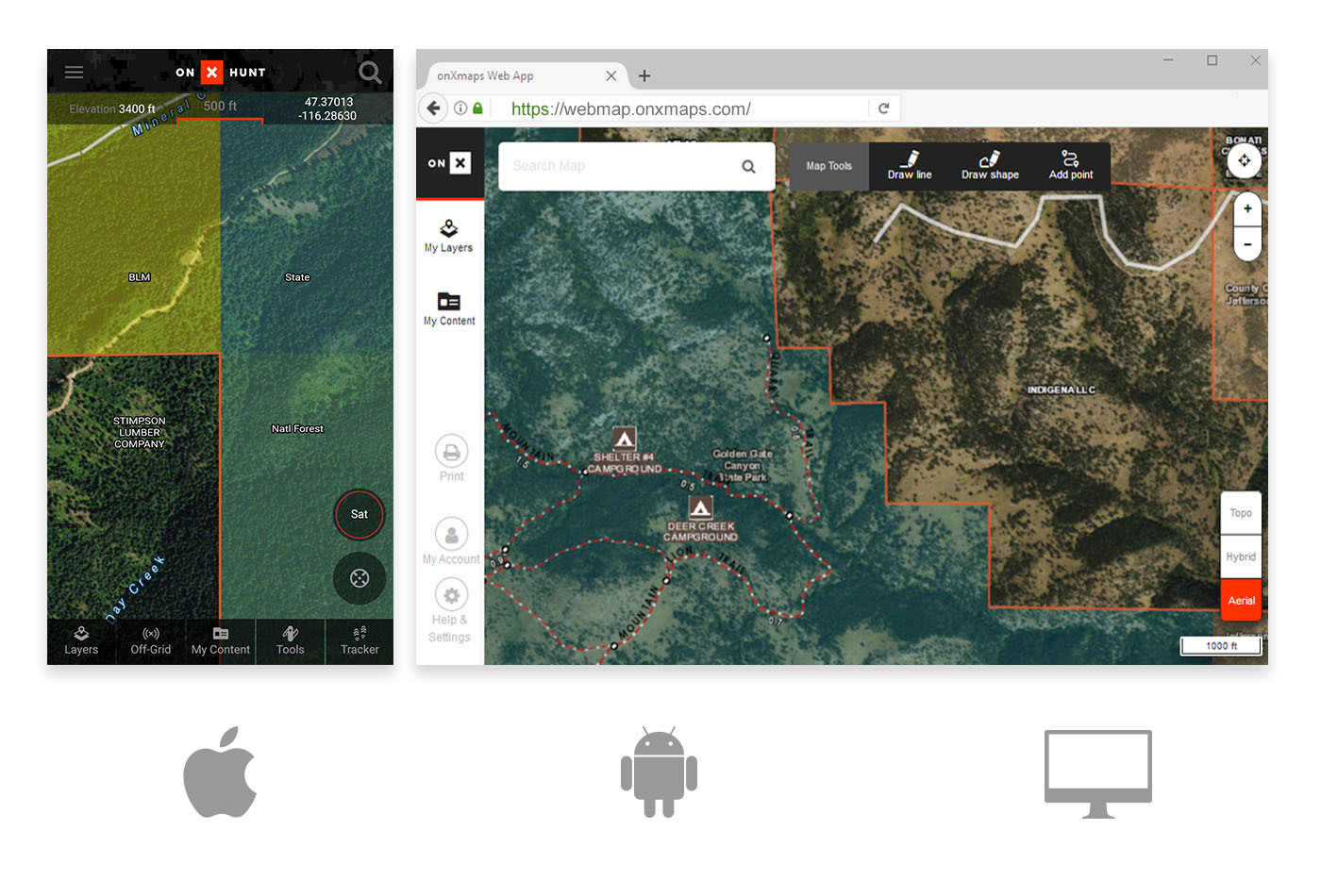 California Hunting Maps Mobile and Computer App GPS Chip onX
