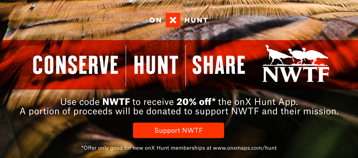 onX Hunt and the National Wild Turkey Federation partner for a discount code on the onX Hunt App.