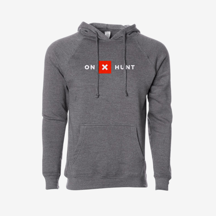 Onx Hunt Grey Hoodie Front