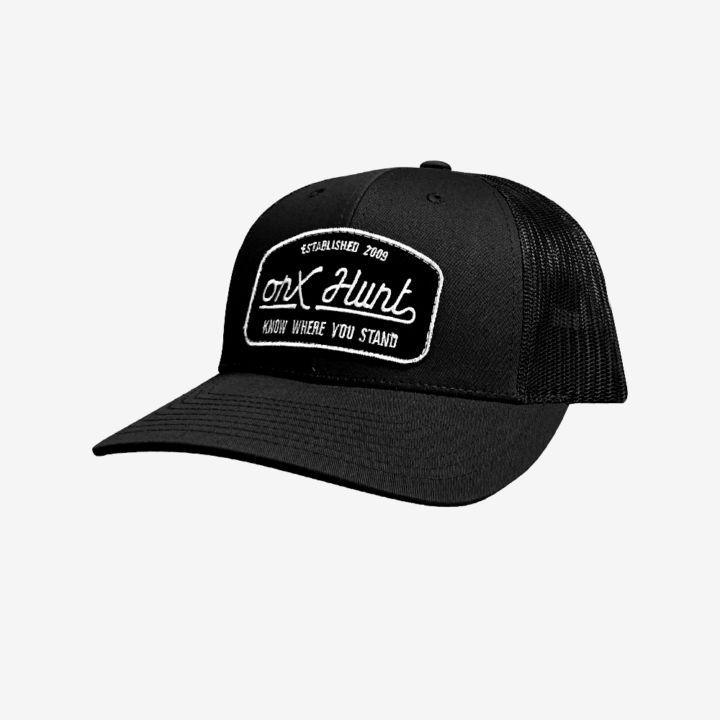 Onx Hunt Hat Black Black White Patch