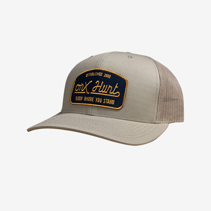 Onx Hunt Hat Tan Yellow Navy Patch