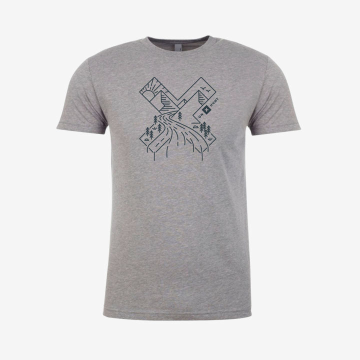 X Line Art Mens Shirt Front