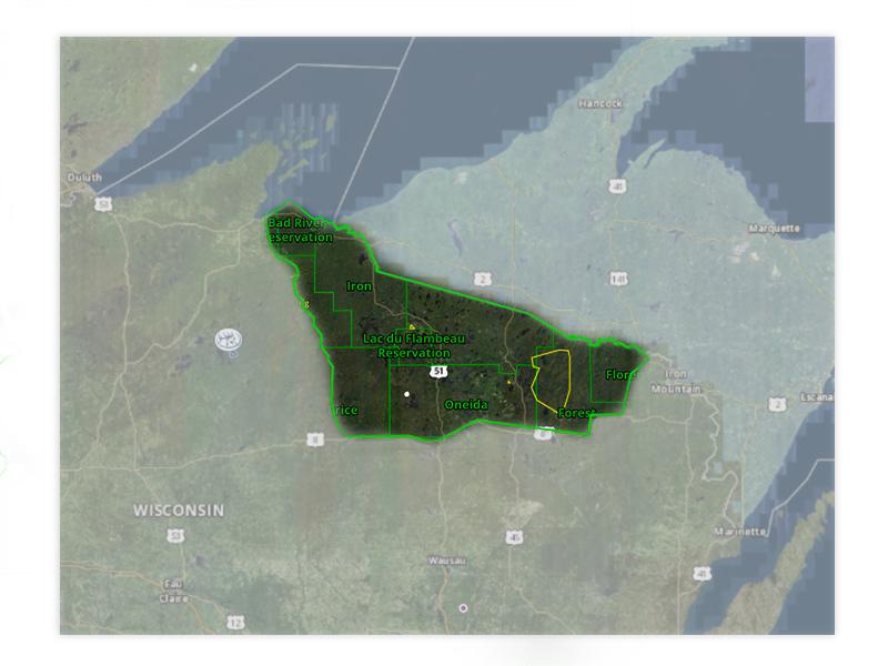 Map of Wisconsin turkey hunt zone 7