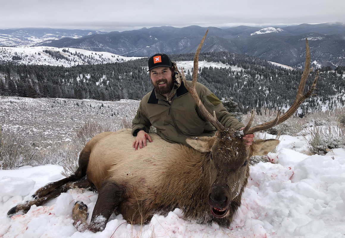 Zach and his elk